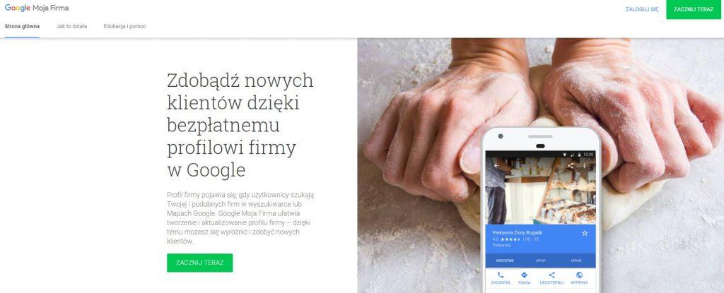 strona logowania do wizytówki google
